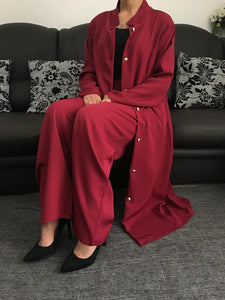 Ensemble Trench Estival Pantalon Palazzo Lina Bordeaux
