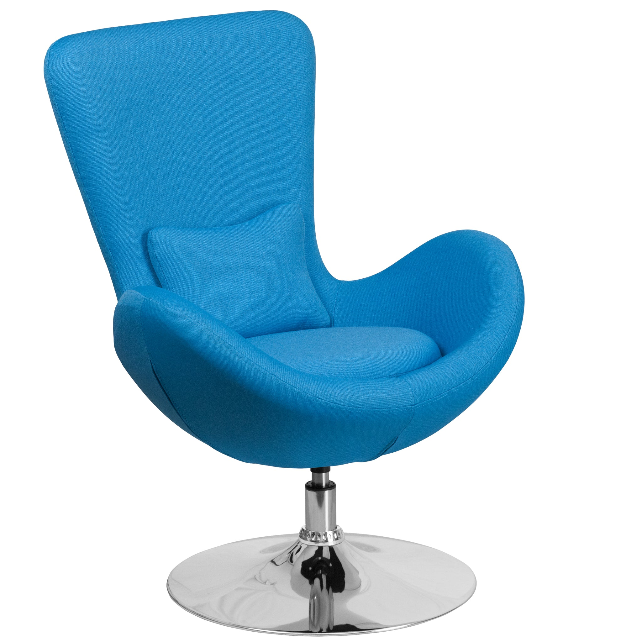 Egg Series Reception-Lounge-Side Chair: Aqua Fabric
