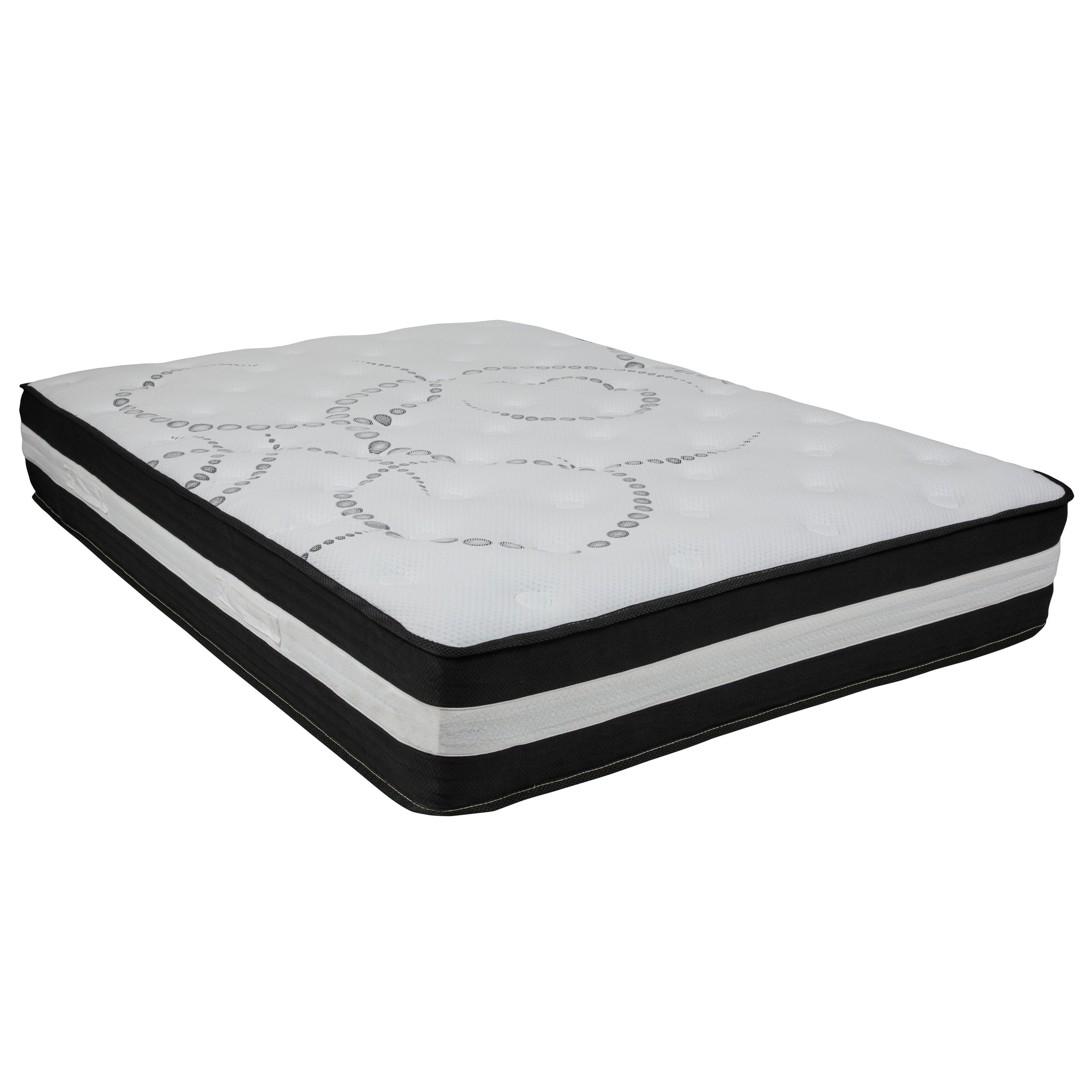 Capri Comfortable Sleep 12 Inch Foam and Pocket Spring Mattress, Full in a Box: White