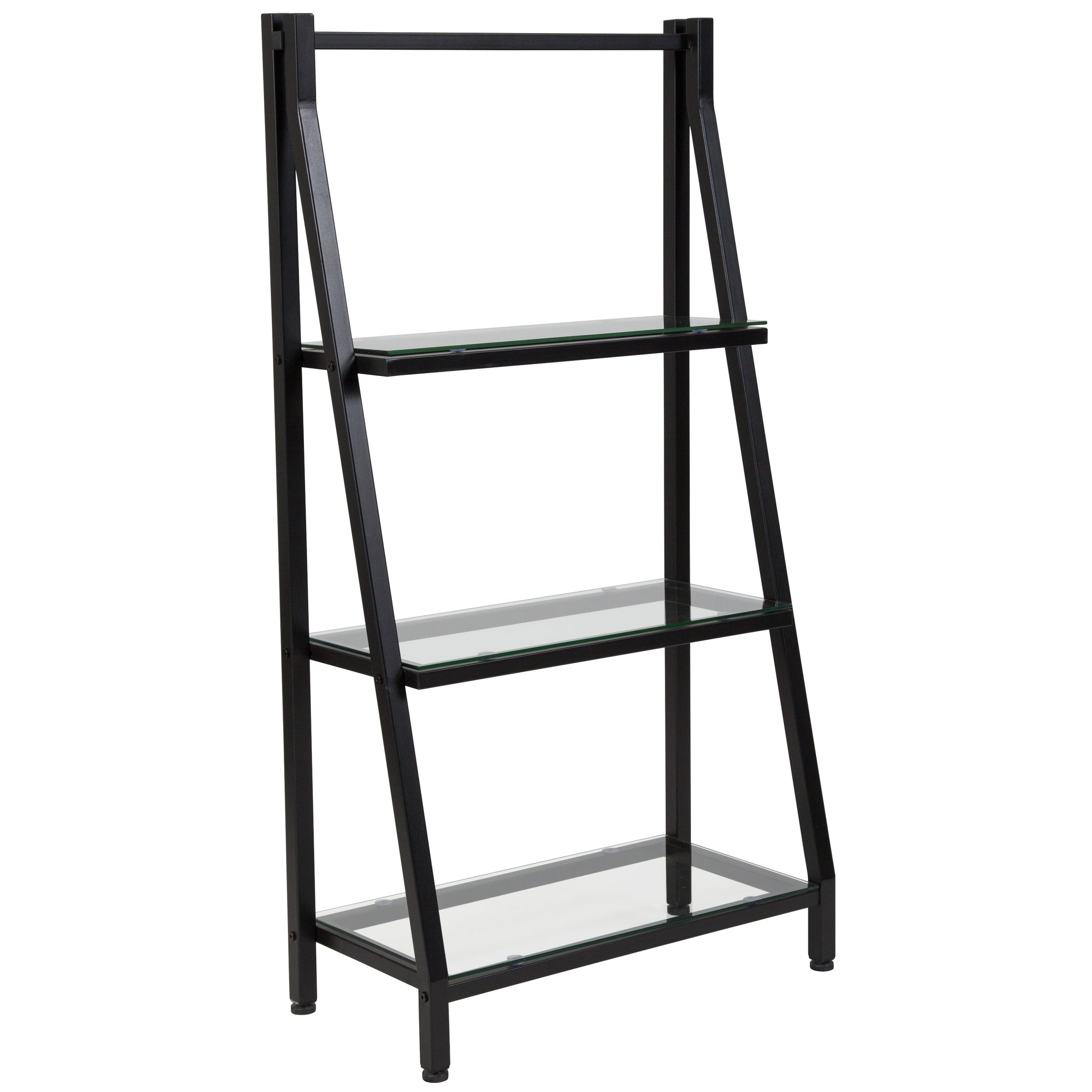 Bookshelf with Metal Frame: Clear/Black