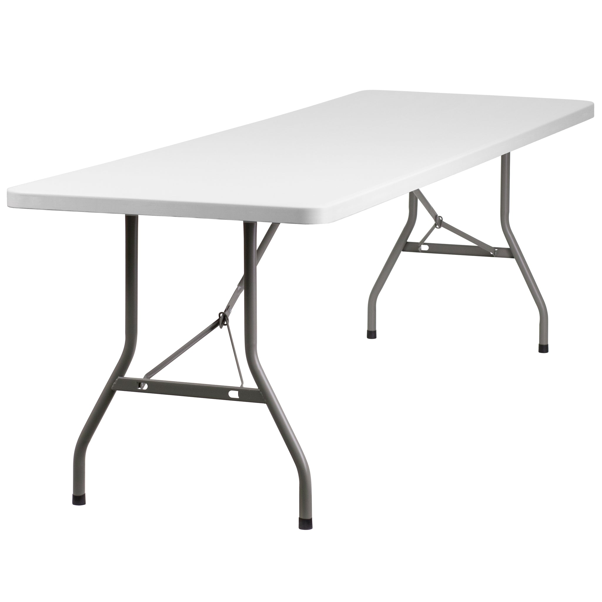 30''W x 96''L Granite Plastic Folding Table
