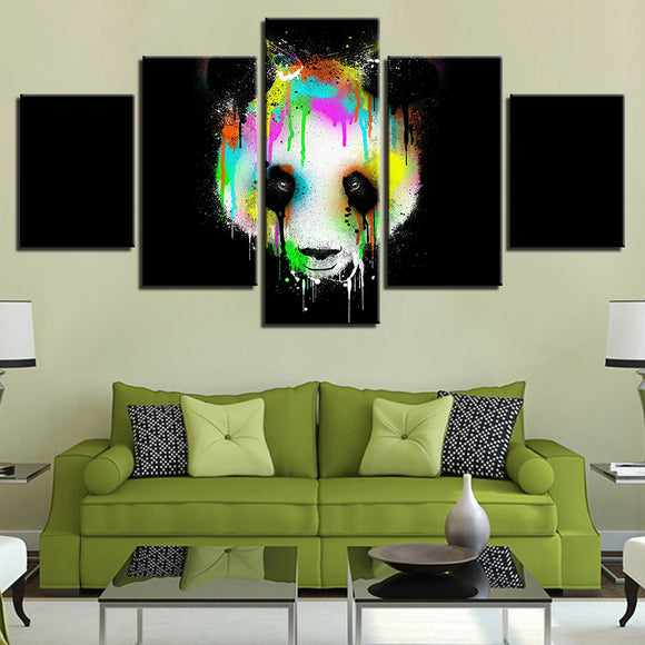wall-art-printed-canvas-decoration 5 panel -Panda