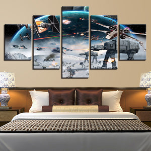 wall-art-printed-canvas-decoration 5 panel - Star Wars 6