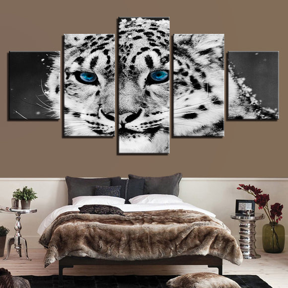 wall-art-printed-canvas-decoration 5 panel - Leopard