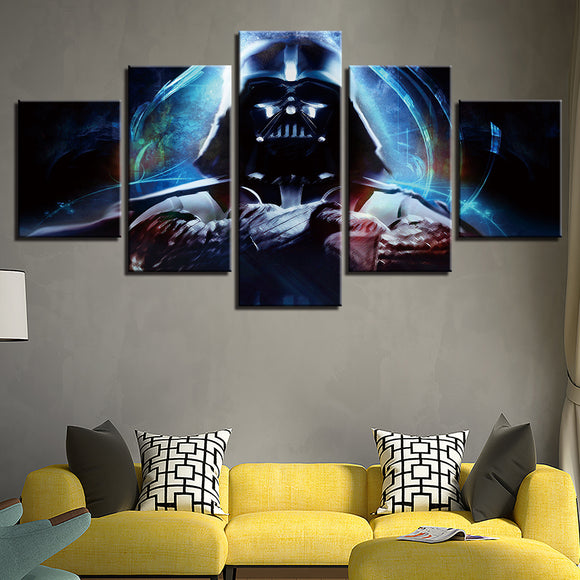 wall-art-printed-canvas-decoration 5 Panel - Darth Vader 2