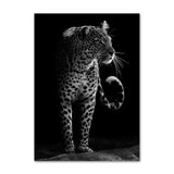Black White, Elephant Giraffe Zebra, Wall Art Canvas Posters And Prints -Home Decor