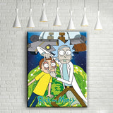 "Cartoon Canvas Wall Art ""Rick And Morty"" Posters Print Home Decor"