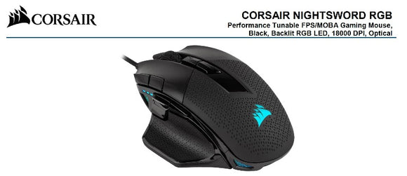 Corsair Nightsword RGB Smart Tunable Mouse