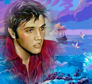"5D Diamond Embroidery Full square\round Diamond Painting ""Elvis"""