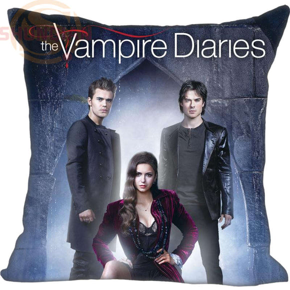 Vampire Diaries Square Zippered Pillow Cover Print