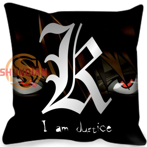Customized Decorative Pillowcase Cover  Death Note