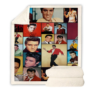 Elvis Presley Plush Blanket Print \Throw Blanket