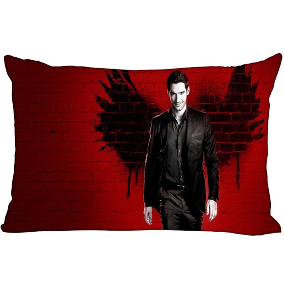 Customized Decorative Pillowcase Cover Lucifer Rectangle zipper