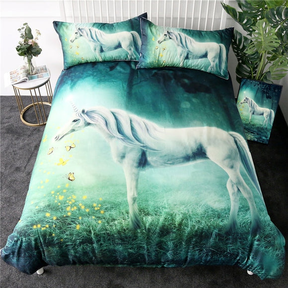 Children's Unicorn Bedding Set Duvet Cover 3pcs set 2