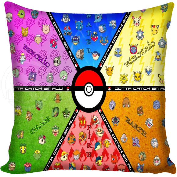 Customized Decorative Pillowcase Cover Pokemon