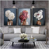 wall-art-printed-canvas-decoration 3 Panel BOUQUET