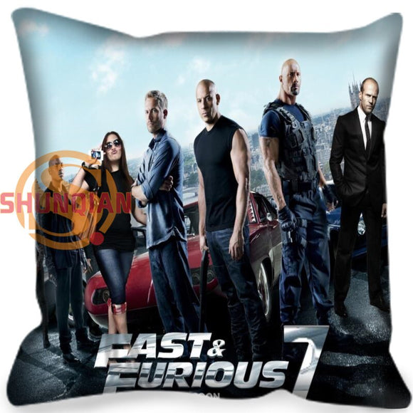 Customized Decorative Pillowcase Cover Fast & Furious Square