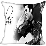Elvis Presley Pillow Cover Home Decor Square Zipper 400TC