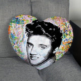 Elvis Presley Heart Shape Pillow Cover Zipper 1pcs - 400TC