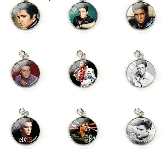 Elvis Presley Dome Glass Cabochon Charms Round Pendant Jewellery