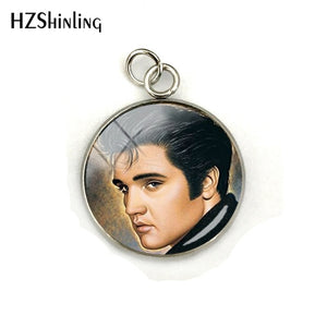 Elvis Presley Dome Cabochon Charms, Round Picture, Pendants Jewellery