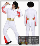 Elvis Presley party costume cosplay w/wo wig