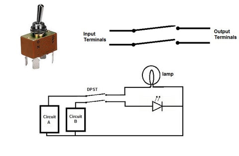 DPST switch and schematic