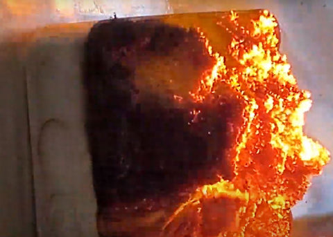 fire pillow in action