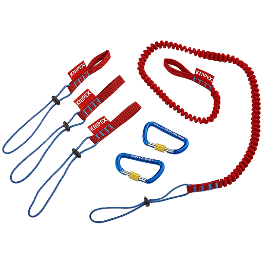 Knipex 00 50 04 T BKA Tether System Lanyard, Adapter Straps, Carabiners