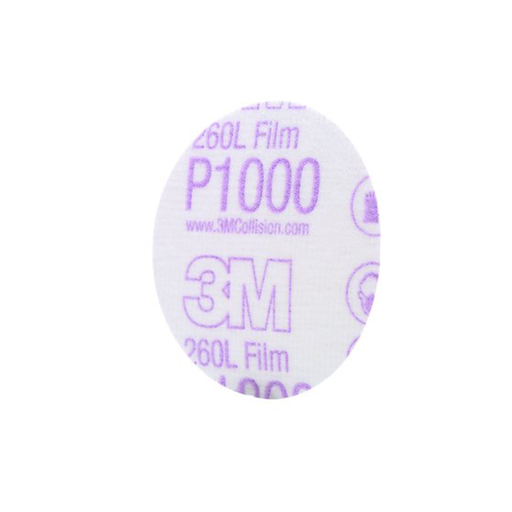 "3M 00909 260L Hookit 3"" P1000 Grade Finishing Film Disc, 50 Disc"