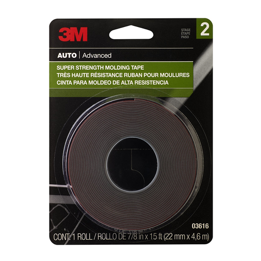 "3M 03616 Scotch-Mount 7/8"" x 15' Automotive Molding Tape"