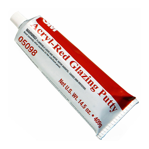 3M 05098 14.5 oz. Acryl-Red Glazing Putty Tube