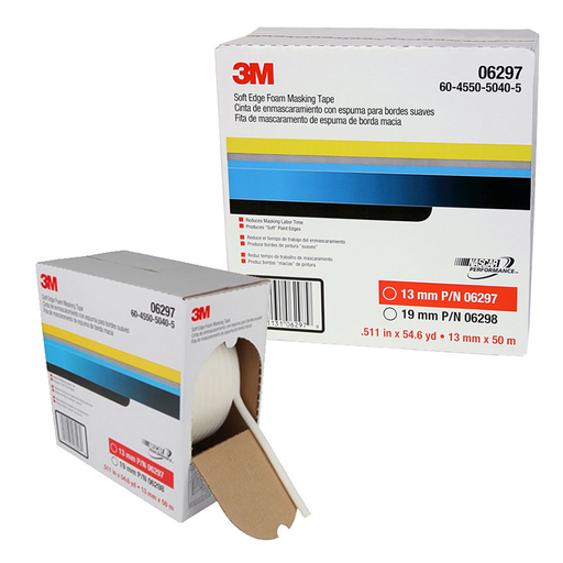 3M 06297 13mm x 50m Soft Edge Foam Masking Tape
