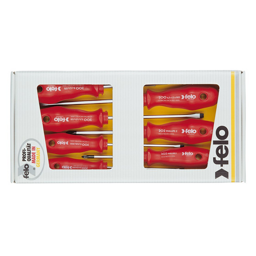 Felo 0715716054 Slotted & Phillips Screwdrivers, 7 Piece