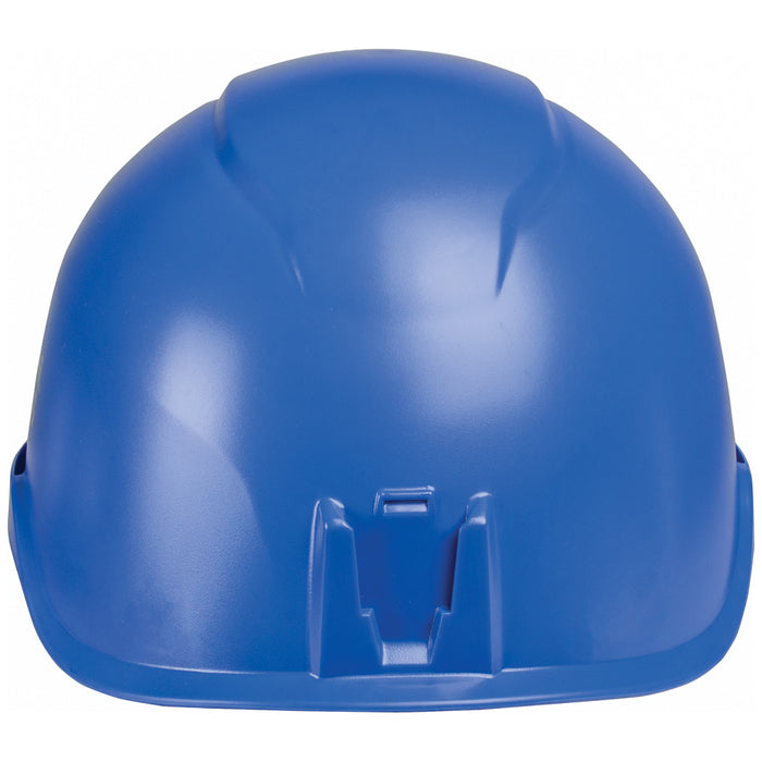Klein Tools 60148 Safety Helmet, Non-Vented-Class E, with Rechargeable Headlamp, Blue