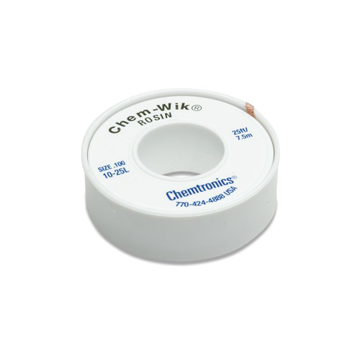 Chemtronics 10-25L Chem-Wik Rosin Desoldering Braid 25ft.