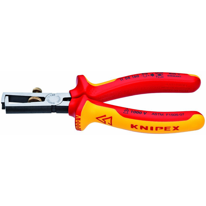 KNIPEX 11 08 160 SBA 1,000V Insulated End-Type Wire Stripper