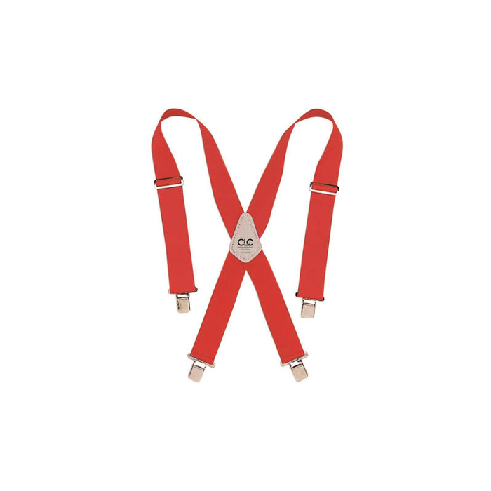 CLC 110RED Heavy-Duty Work Suspenders, Red