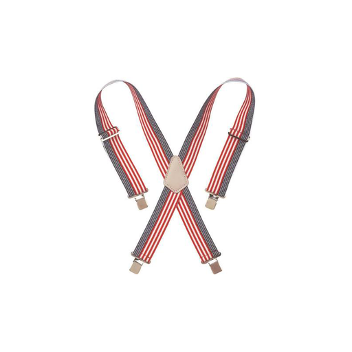 CLC 110USA Heavy-Duty Elastic Suspenders, USA Flag Print