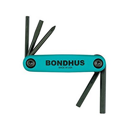 Bondhus 12540 GorillaGrip Set of 5 Fold up Utility Set