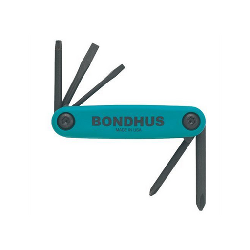 Bondhus 12543 GorillaGrip Set of 5 Fold up Utility Set