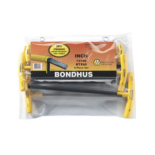 Bondhus 13146 Ball End T- Handle Set, 6 Piece
