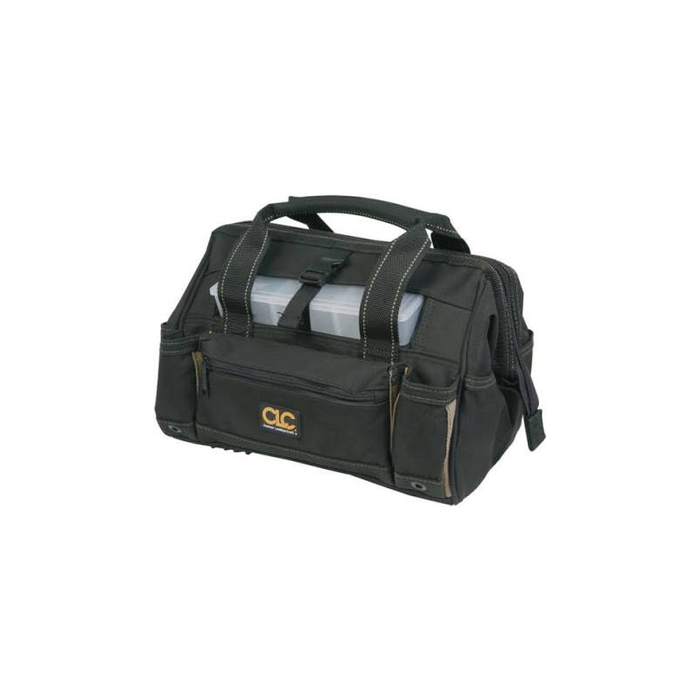 "CLC 1534 16"" Tool Bag with Top-side Plastic Parts Tray"