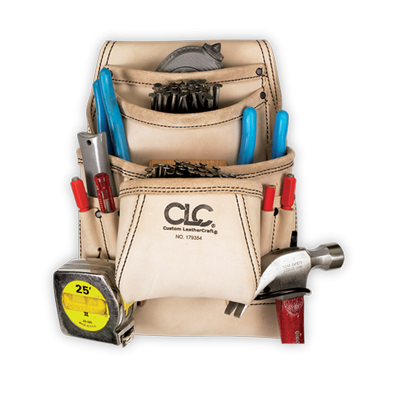 CLC 179354 10 Pocket Carpenter's Nail & Tool Bag