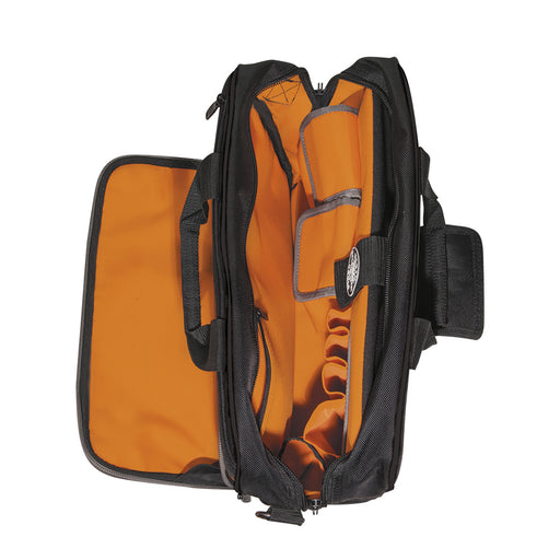 Klein Tools 55455M Tradesman Pro Tech Bag,Black/Orange