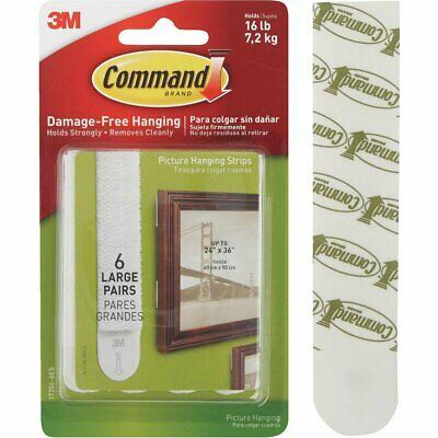 Command Large Picture Hanging Strips 17206-6ES, 6 Pairs