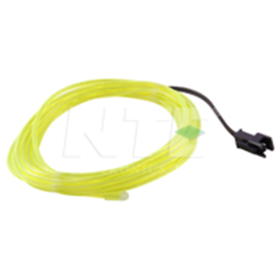 NTE Electronics 69-ELW2.3-YG EL WIRE YLW GRN 2.3MM DIA 3M W/PRE-WIRED CONNECTOR