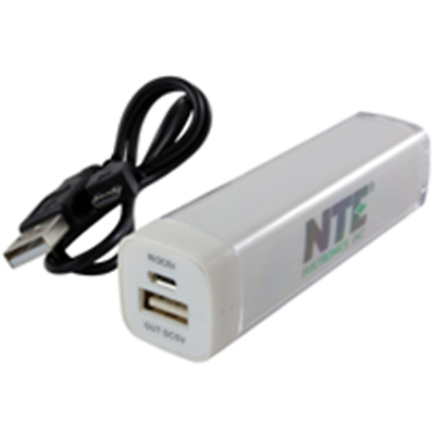 NTE Electronics 57-PB1 POWER BANK 2600MAH CAPACITY 5VDC 1 AMP OUTPUT