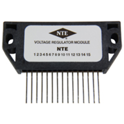 NTE Electronics NTE7027 MODULE - 3 OUTPUT VOLTAGE REGULATOR FOR VCR 15 LEAD SIP