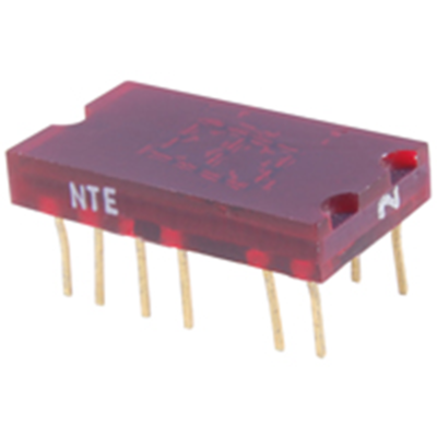 NTE Electronics NTE3050 LED-display Red 0.270 Inch Seven Segment Common Anode